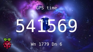 rpiclock displaying GPS time